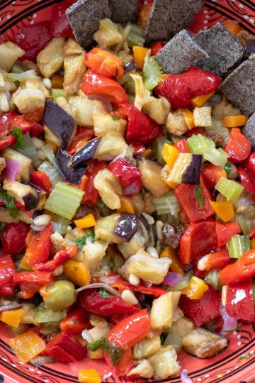Caponata siciliana senza glutine