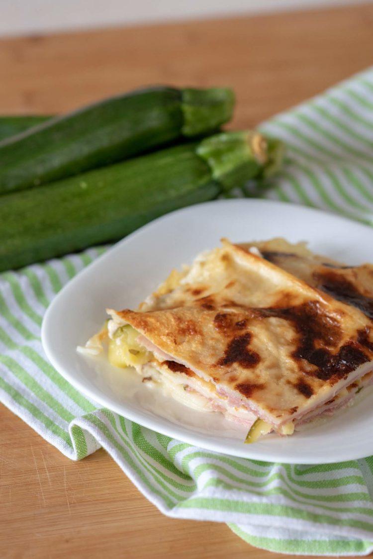 Lasagne con zucchine  senza glutine